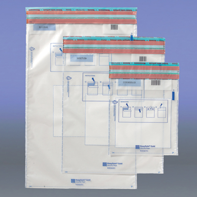 Pack of 100 keepsafebag goldclosure 190 x 275 mm