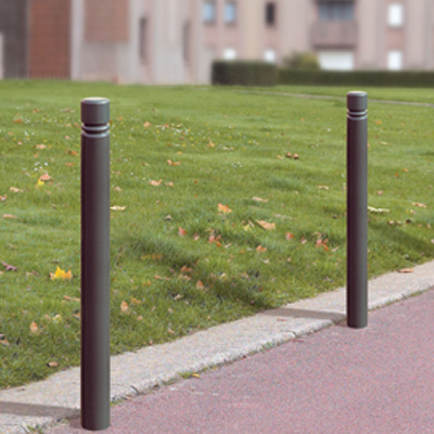 Steel walkway posts 76 mm black
