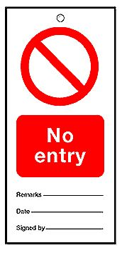 160 x 75 mm Pack of 5 No Entry