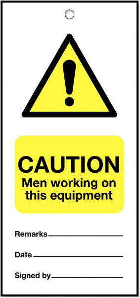 160 x 75 mm Pack of 5 Caution Men Working On This
