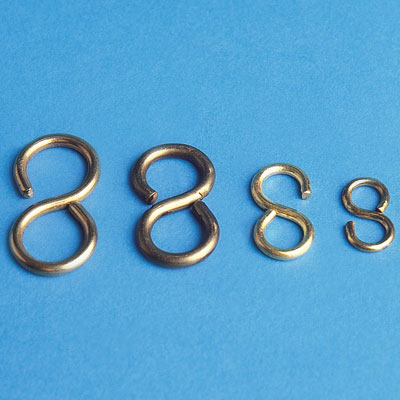 32 mm brass s hooks for valve tags 100 pack