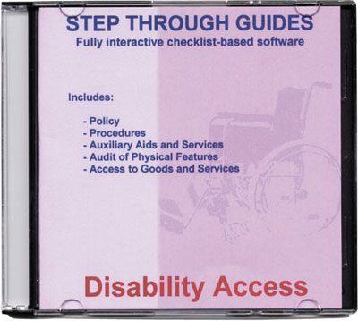 Disability access step through guide