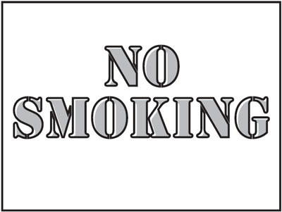 400 x 600 mm no smoking stencil