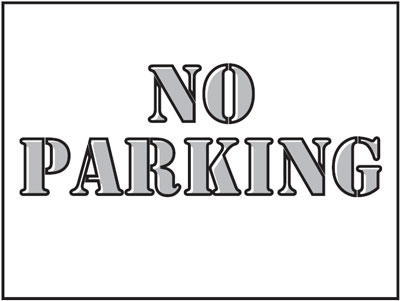 400 x 600 mm no parking stencil