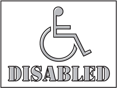 400 x 600 mm disabled stencil