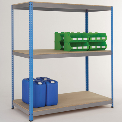 Heavy duty wide shelving with 3 shelves