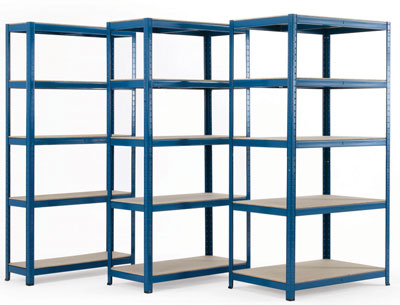 Budget safety shelving 1800 x 900 x 300 mm