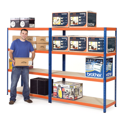 Wide safety shelving 3 levels
