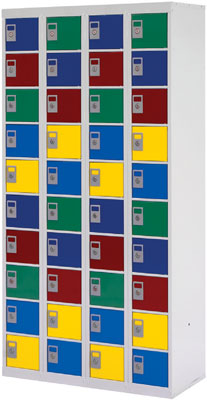 Lockers and cabinets - Personal effects locker 20 doors blue