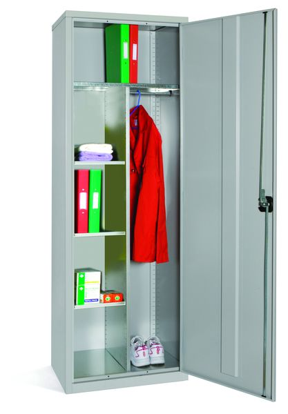 Slimline Personal Cupboard Red