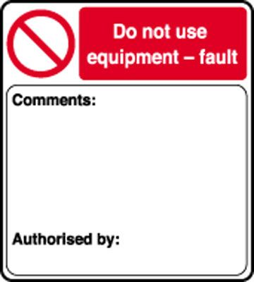 50 x 45 do not use equipment-fault