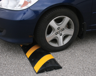 Speed bumps recycled rubber