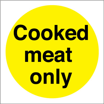 100 x 100 mm cooked meat only s a