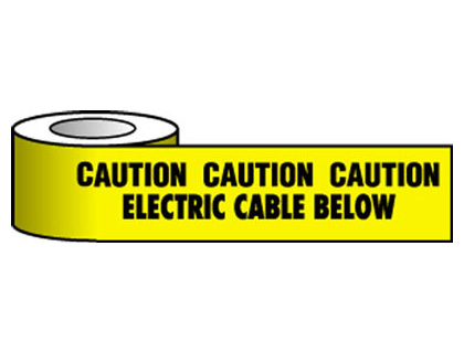 150 x 365 metre caution electrical cable below