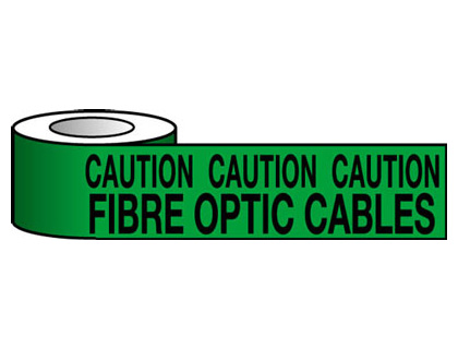 150 x 365 metre caution fibre optic cables