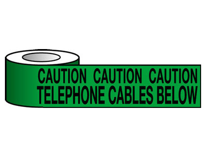 150 x 365 metre caution telephone cable
