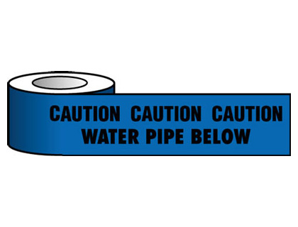 150 x 365 metre caution water pipe below
