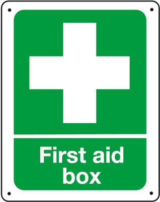 Vandal resistant first aid sign