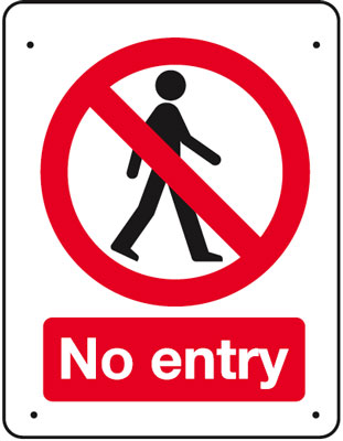 Vandal resistant access sign