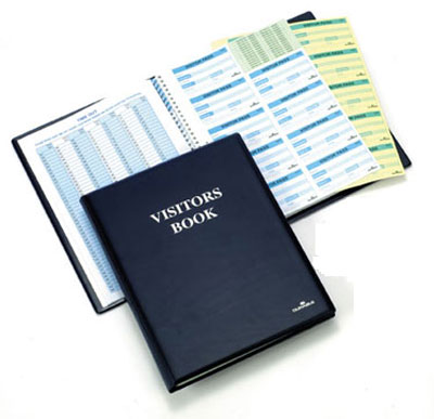 Durable visitor book system