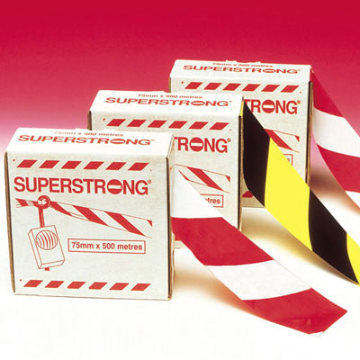 75mm x 100 metre red & white superstrong