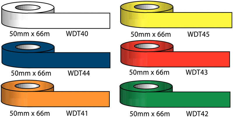 50 mm x 60 metre white flagging tape