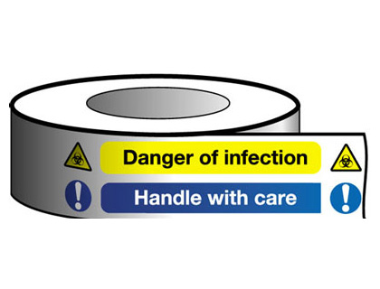 50 x 30 metre danger of infection handle with
