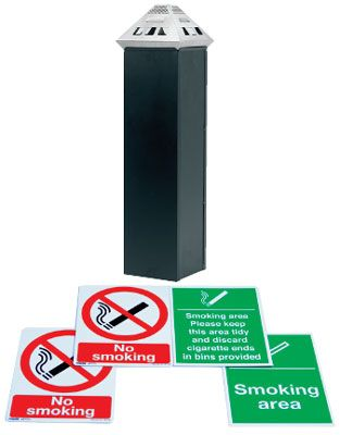 UK smoking signs - smoking area labels kit