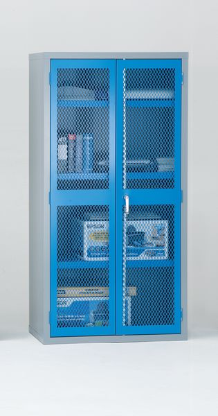 Mesh Door Cabinet Red H1830 x With 915 mm x D 459mm Cabinet