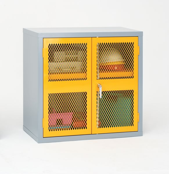 Mesh Door Cabinet Red H 915 x With 915 mm x D 459mm Cabinet