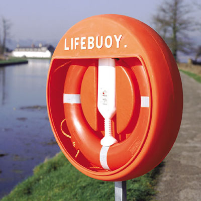 Waterside equipment - Lifebuoy cabinet rail mounting clips