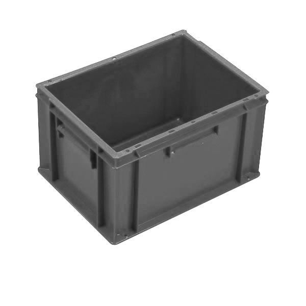 Extra Small Euro Container Solid 20 Litre Grey Storage Containers