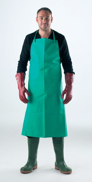 Green Pvc / Nylon Apron C / With Ties 48 x 36 Inchaprons