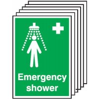 A5 Emergency Shower Safety Labels
