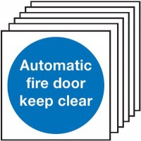 200 x 200 mm Automatic Fire Door Keep Clear Fire Signs