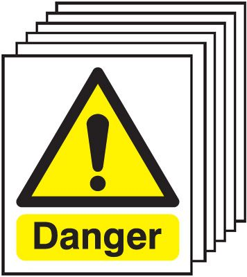 300 x 250 mm Danger Safety Signs