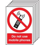 A5 Do Not Use Mobile Phones Safety Signs