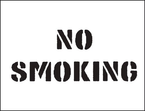 Reusable Stencil No Smoking 300 x 400 mmstencil