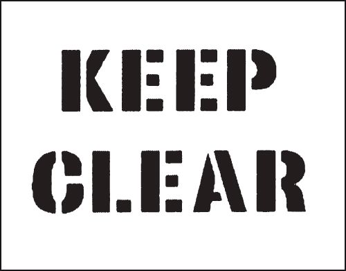 Reusable Stencil Keep Clear 800 x 600 mm Safety Signs