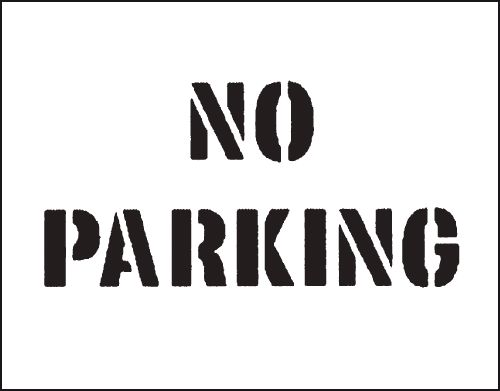 Reusable Stencil No Parking 300 x 400 mmstencil