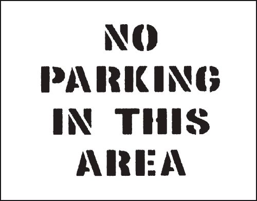Reusable Stencil No Parking.�.800 x 600 mm Safety Signs