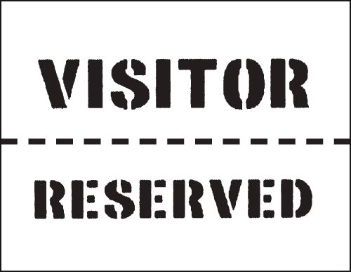Reusable Stencil Visitor / Reserved 300 x 400 mm Stencil
