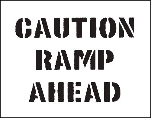 Reusable Stencil Caution Ramp..800 x 600 mm Safety Signs