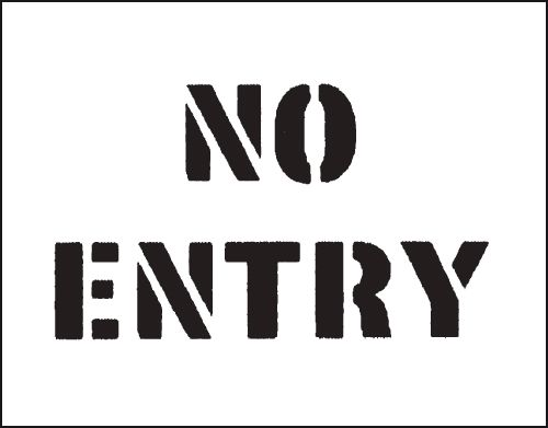 Reusable Stencil No Entry 300 x 400 mmstencil