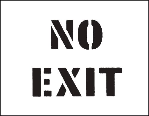 Reusable Stencil No Exit 800 x 600 mm Safety Signs