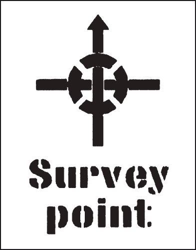 Reusable Stencil Survey Point 300 x 400 mmstencil