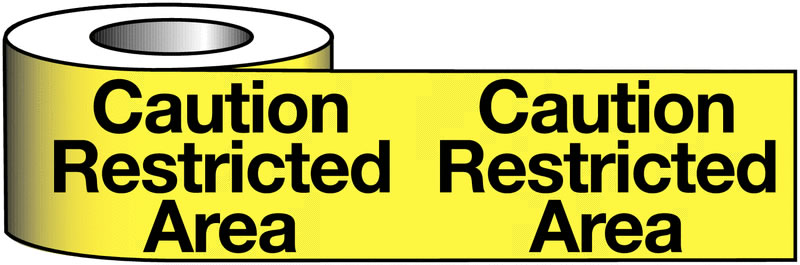 75 x 100M Caution Restricted Area