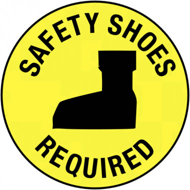 Non-Luminous 17-1 / 2 Inch Diameter Safety Shoes.. Shoes