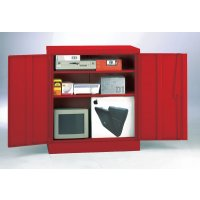 Security Cupboard 1016 x 915 x 470 Red
