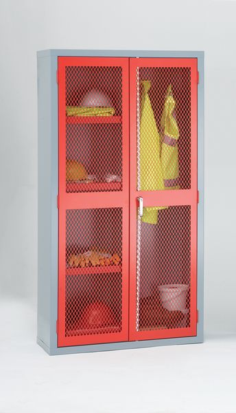 Mesh Door Cabinet Blue H1830 x With 915 mm x D 459mm Cabinet